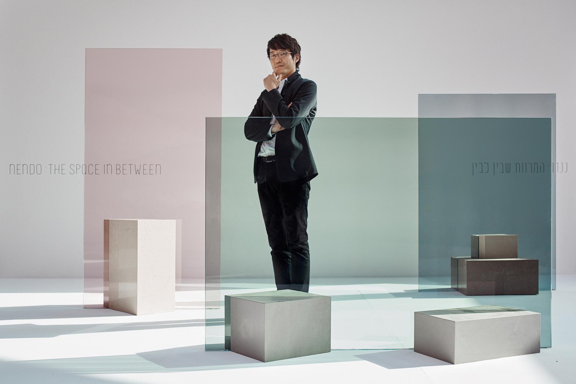 Oki Sato from nendo at Design Museum Holon