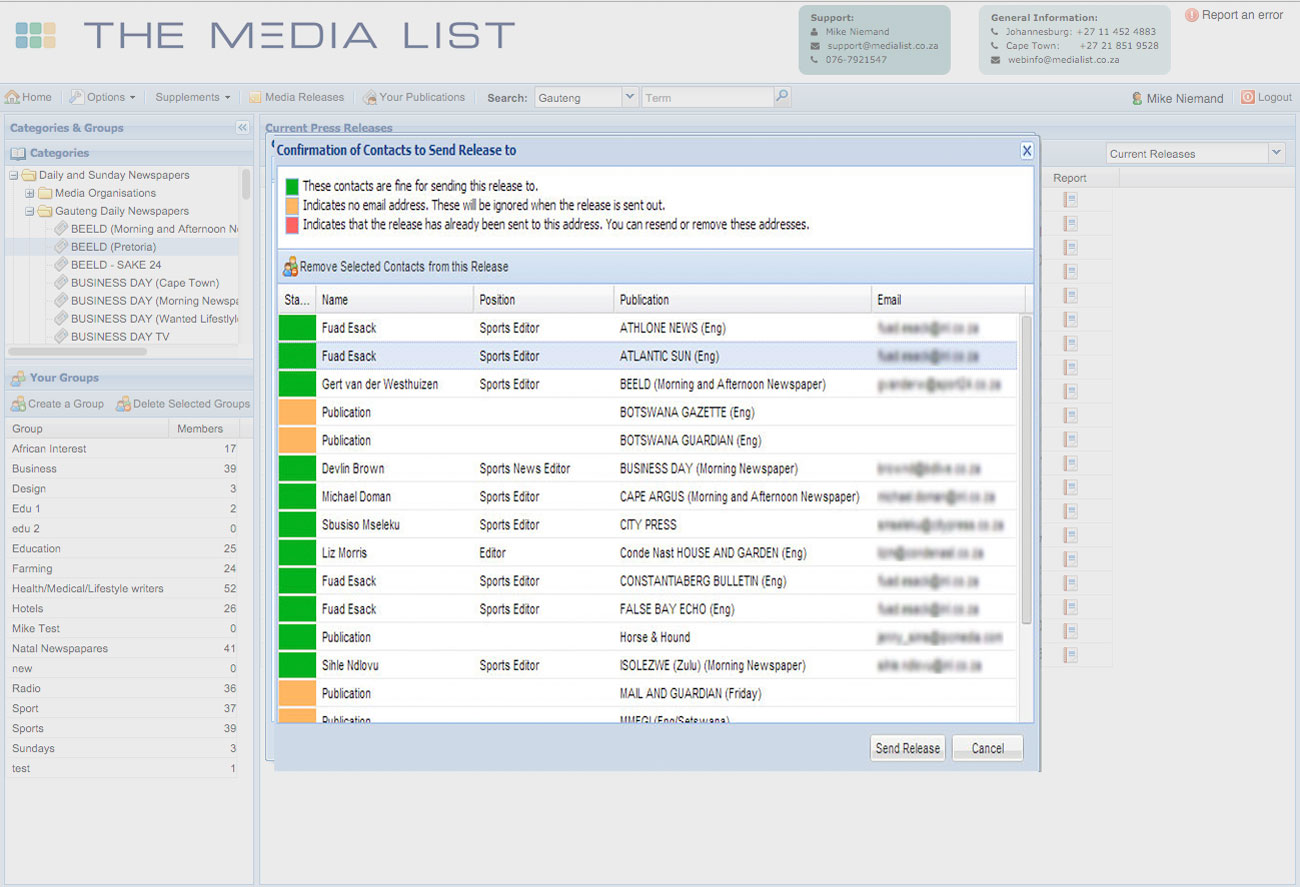 The Media List - South Africa's Premier Media Contacts Directory